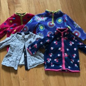 Set of 4 ! 12 month long sleeve tops